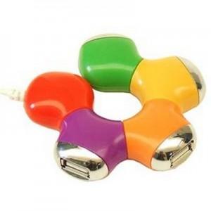 קשת- מרכזית USB 2.0 צבעונית.
