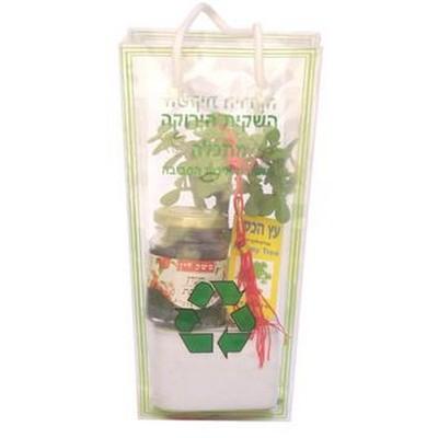 עציץ ודבש או חרוסת במארז ירוק