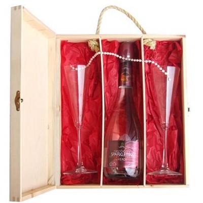 מארז שמפניה וכוסות