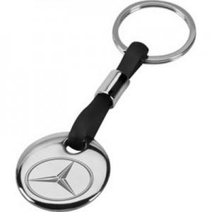 רובינו - מחזיק מפתחות ממתכת וסיליקון, לוחית עגולה מגיע