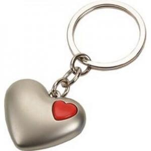 אקו - מחזיק מפתחות מתכת בצורת לב