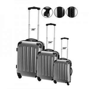 טרוולר - סט מזוודות קשיחות