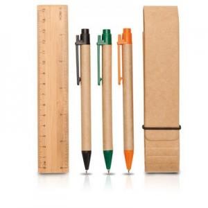 קלמרון - קלמר ממוחזר עם 3 עטים וסרגל
