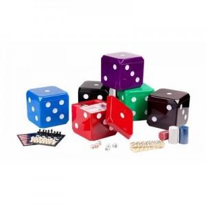 גיימר - סט 7 משחקים במארז מעוצב כקוביה
