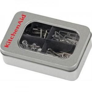 ניטי - קופסת פח מלבנית הכוללת תופסני מתכת, אטבים, מהדקים ונעצים שקופים