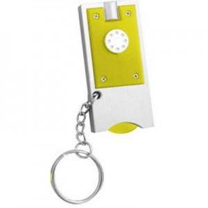 מאו - פנס LED עם מחזיק מפתחות, מטבע לעגלת סופר