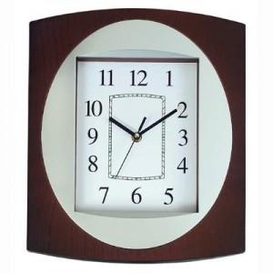 """בזל - שעון קיר פלסטיק  34x29 ס""""מ"""