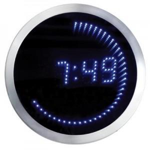 שעון קיר  דיגיטלי  ניאון ספרות כחולות