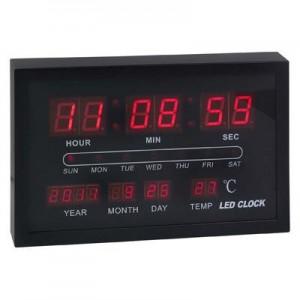 """שעון קיר תאריכון דיגיטלי 20x30 ס""""מ"""
