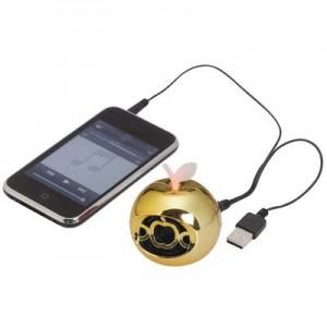 """מיני רמקול """"Apple Byte"""" לנגנים וטלפונים סלולריים, סאונד חזק ואיכותי"""
