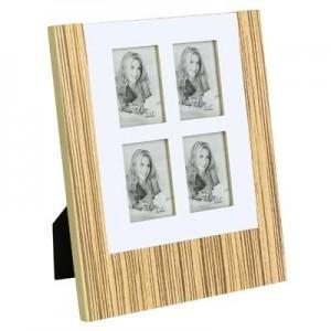 מסגרת עץ משולבת אלומניום לארבע תמונות