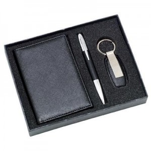 מארז מתנה נרתיק לדרכון ,עט יוקרתי ומחזיק מפתחות