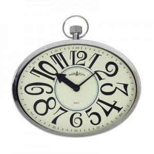 """שעון קיר אליפטי מתכת בינוני (דגם שוכב / דגם עומד),  30 ס""""מ"""