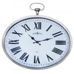 """שעון קיר אליפטי מתכת גדול (דגם שוכב / דגם עומד),  40 ס""""מ"""