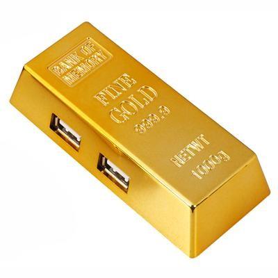 מפצל USB 2.0 מטיל זהב