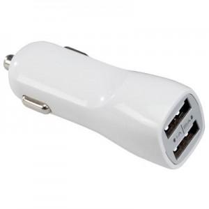 מטען ומפצל USB כפול לרכב לטלפונים ולטאבלטים