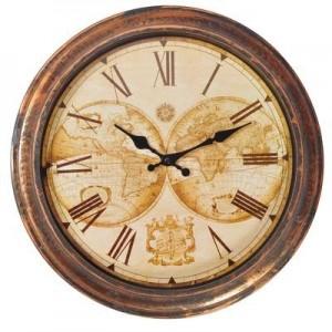 """שעון מפת עולם קוטר 40 ס""""מ"""
