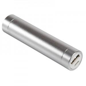 מטען מקצועי פאוור בנק 2600mAh lithium-ion מתכתי/אלומניום עם כבל טעינה משולב