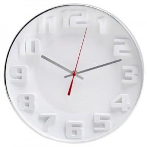 """שעון קיר """"ציריך"""" ספרות בולטות תלת מימד"""