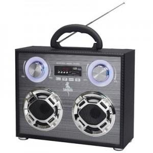 """רמקול """"מיוזיק בוקס"""" נטען בשילוב רדיו כניסה לדיסק און קי ו SD CARD"""