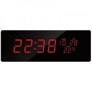 שעון קיר דיגיטלי גדול תאריכון ומד מעלות