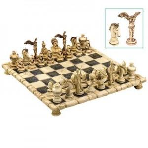 """שחמט מהודר גדול מיתולוגיה יוונית 44x44 ס""""מ"""