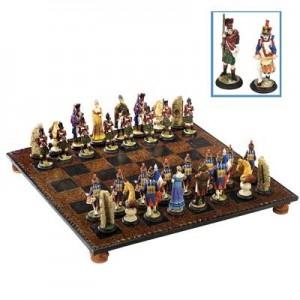 """שחמט מהודר גדול קרב ווטרלו 44x44 ס""""מ"""