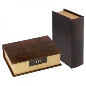 """ספר ענתיק/כספת, 22X16X7 ס""""מ"""