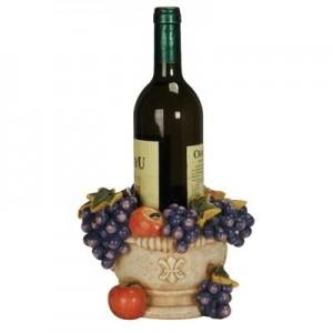 מעמד כד ענבים אבן לבקבוק יין