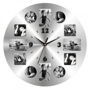 """שעון קיר עגול מראה , קוטר 43 ס""""מ"""