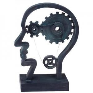 גלגלי המוח- ראש האדם - פסל אומנותי