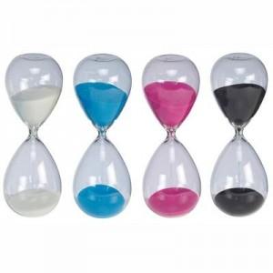 """שעון חול זכוכית ענק , גובה 23 ס""""מ"""
