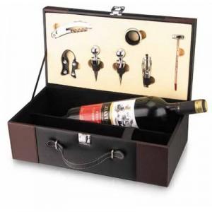 גפן - מארז דמוי עור מהודר לזוג יינות