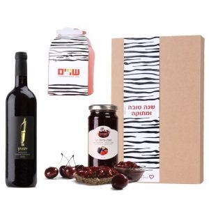 מארז יין ומשאבה לראש השנה