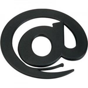 מקור - סכין לפתיחת מכתבים בצורת @