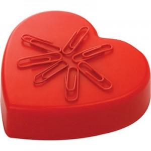 קוקינו - מעמד שולחני עם מגנט  לאטבים בצורת לב