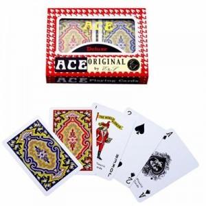 זוג חפיסת קלפים איכותיים מפלסטיק